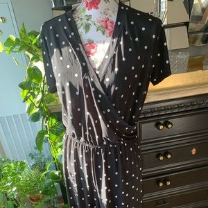 Polka dot black and white jump suit